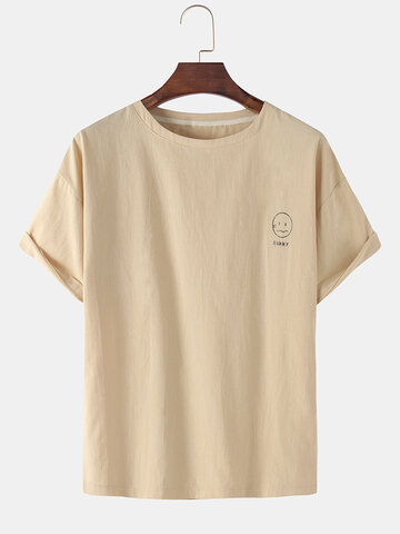 National Style Cotton Linen T-shirts