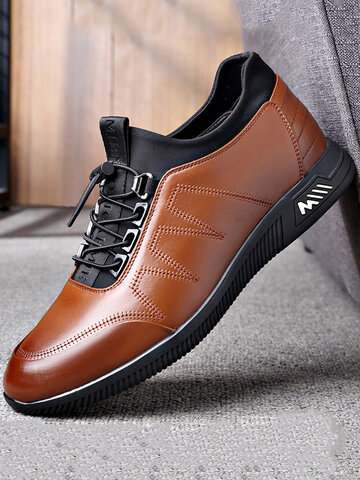 Men Cow Leather Non Slip Business Casual Shoes