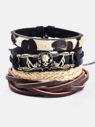 4 Pcs Music Skull Bracelet