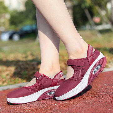 Hook Loop Mesh Air Cushion Shoes