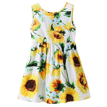 Sunflower Girls Summer Dresses For 1Y-9Y
