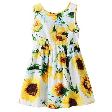 Цветочные летние платья для девочек