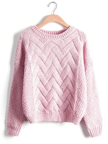 Повседневный твердый O-образный вырез Loose Knitted Sweaters