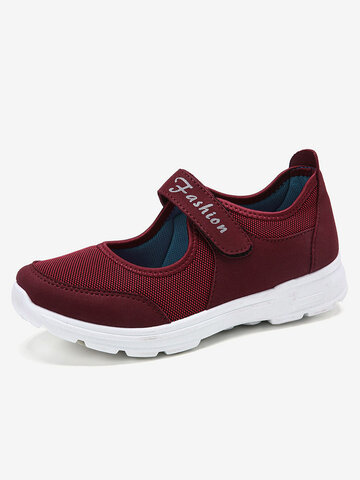 LOSTISY Big Size Outdoor Mesh Breathable Comfy Sneakers