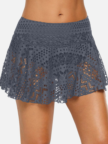Plus Größe Lace Swimming Skirt Bottom