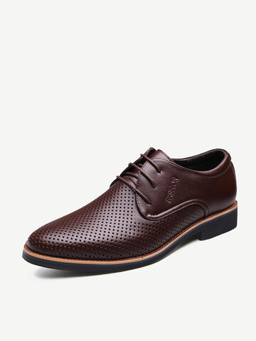 Men Hole Non Slip Leather Formal Shoes
