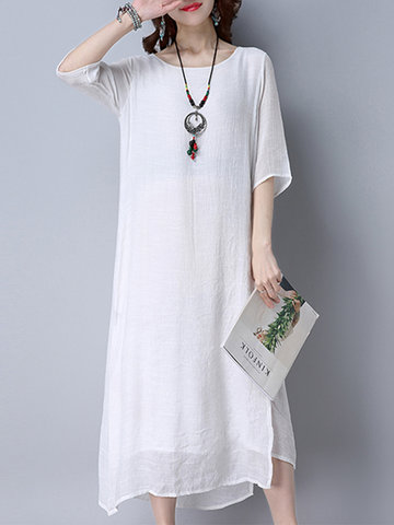 Vintage Pure Patchwork Women Dresses