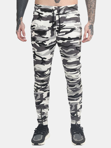 Camouflage Slim Fit Casual Running Pants