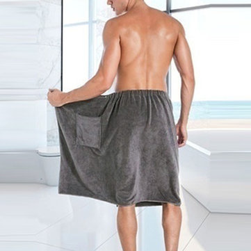 Mens Quick Dry Bathrobe Beach Towels Skirts