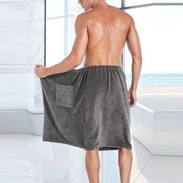 Saias de banho rápidas mens Praia saias de toalhas