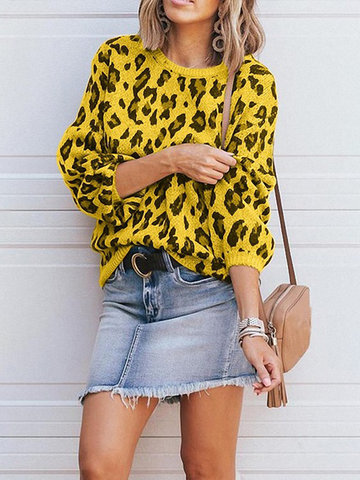 Fashion Leopard Print Sweater
