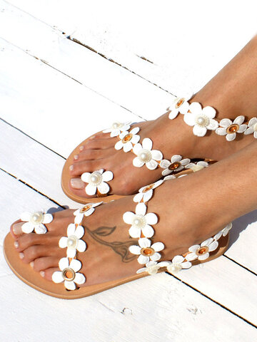 Toe Ring Casual Falt Strappy Sandals