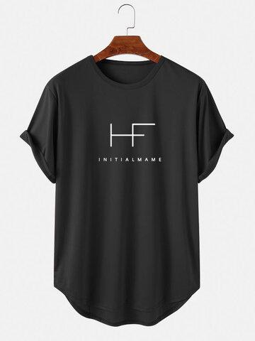 レタープリントスポーティーTシャツ