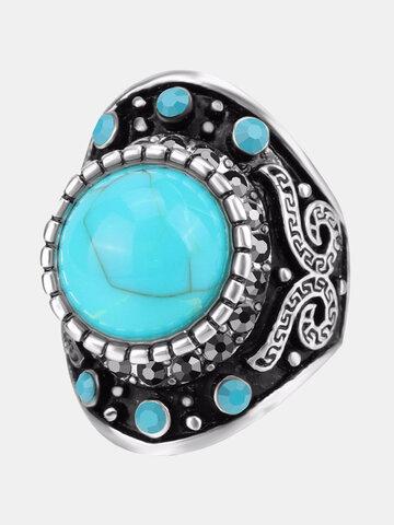 Vintage Turquoise Finger Ring