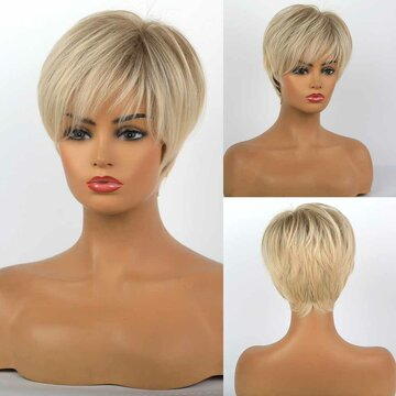 10 Inch Short Straight Wigs