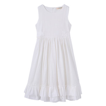 Girls A Line Ruffles at Bottom Long Dress