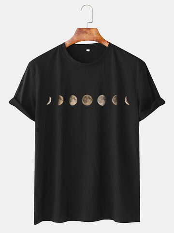 6 Color Eclipse Graphic Pritned T-shirt