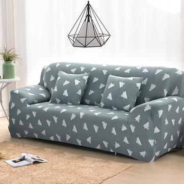 Couverture de canapé élastique douce maison Triangle vert 1/2/3/4 places