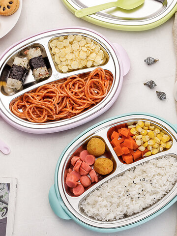 3-Grid Lunch Box Plate