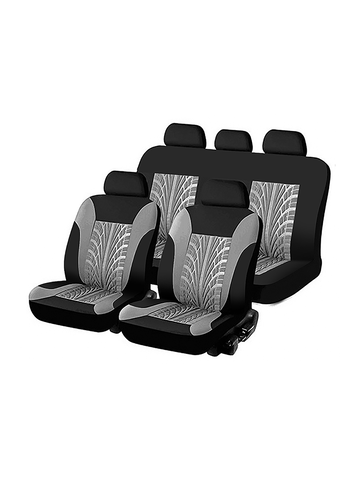 Universal 9PCS Full Set  Auto Seat Covers Tyre Track Embossed Car Seat Cover For Car Truck SUV Van 4 Colors Durable Polyester Material
