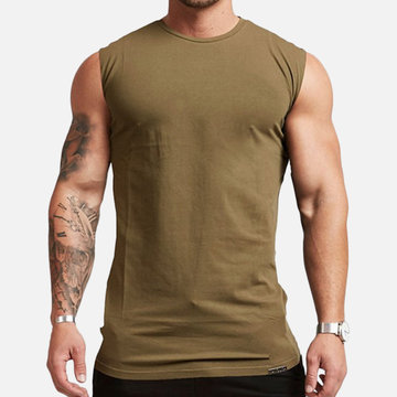 Muscle Fitness Sports Training Stretch Casual Tank Tops