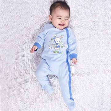 TUBEN Baby Rabbits Long Sleeve With Socks Crawling Rompers
