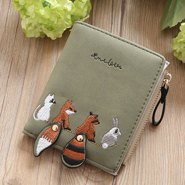 Cartoon Cute Lovely Bi-fold Small Wallet