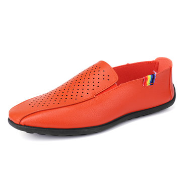 Men Hollow Out Slip On Casual Shoes