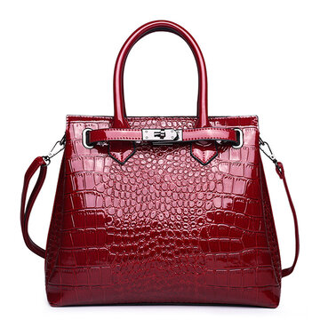 Crocodile Modello Crossbody borsa a mano in ecopelle Borsa