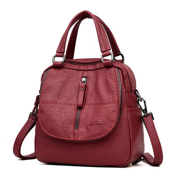 Women High-end Multifunction Soft PU Leather Handbag