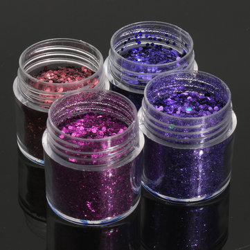 Dark Purple Nail Art Glitter Powder 1mm Sequins Sparkly Colorful Iridescent Acrylic Tips