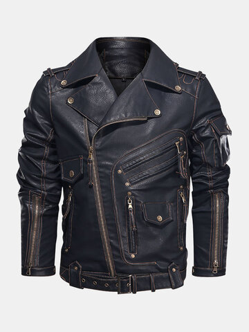 Heavy Industry Motorcycle PU Leather Jackets