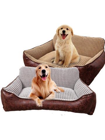 4 in 1 Luxury Pet Leather Sofa Bed Sleeping Package