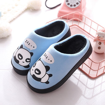 Unisex Kids Cartoon Panda Inicio Zapatos