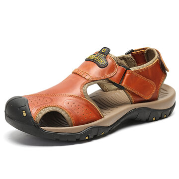Men Outdoor Closed Toe Hiking Sandals