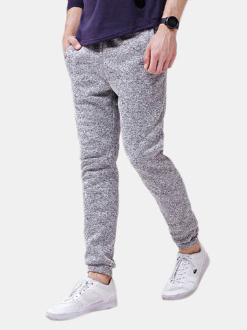 Elastic Waist Drawstring Casual Sweatpants