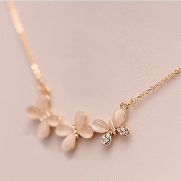 Fashion Pendant Opal Necklace