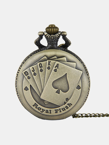 Steampunk Flush Poker Pocket Watch
