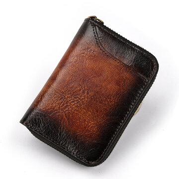 Vintage Genuine Leather 12 Card Slots Wallet Card Holder