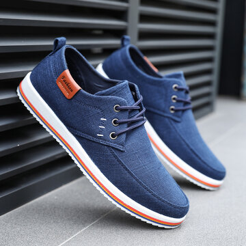 Men Canvas Breathable Non Slip Casual Shoes