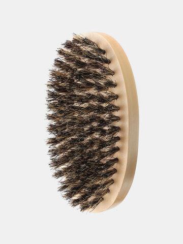 イノシシの毛の最も厚いひげを飼いならす櫛のブラシ木製の手のひらブラシ