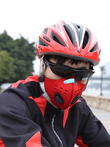 Staubdichte PM 2.5 Gasschutzfilter Fahrrad Fahrrad Aktivkohle Maske