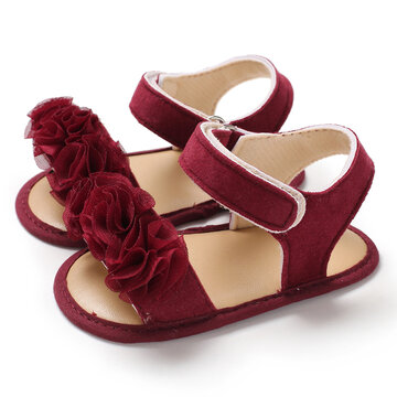 Toddler Girls Lace Flower Decor Sandals