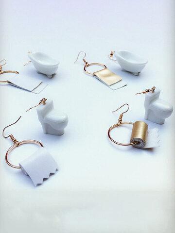 Paper Towel Asymmetric Earrings