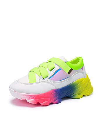 Fashion Colorful Sole Chunky Sneaker Shoes