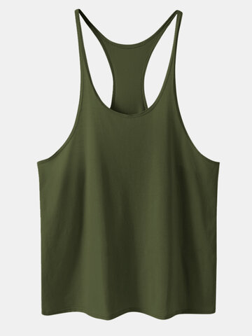 Plain Breathable Cotton Tank Top