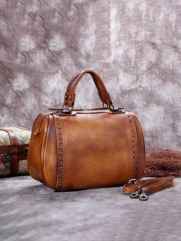 Women Vintage Leather Satchel Bag