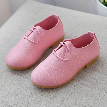 Girls Pure Color Casual Flat Shoes