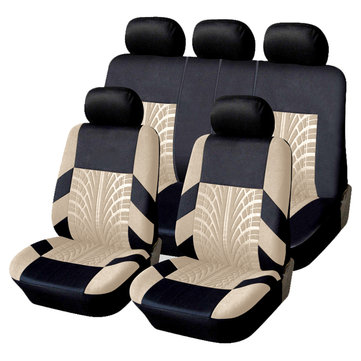 Car Seat Covers Full Set Polyester Steering Wheel Cover