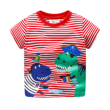 Dinosaur Boys Short Sleeve Tees For 1Y-9Y